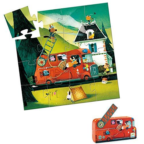 Djeco puzzel Brandweerauto - 16 stukjes
