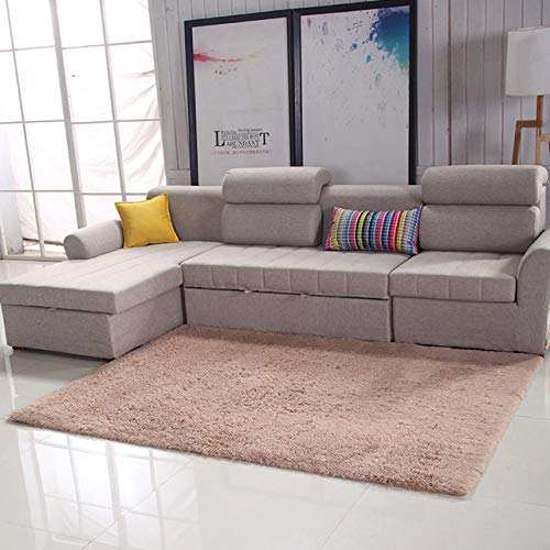 LAMEDER Home Alfombra Interior,Alfombra Moderna de Pelo Largo y esponjoso, alfombra de Invierno Decorativa para Sala de estar Interior, Camello, 80 × 200 cm