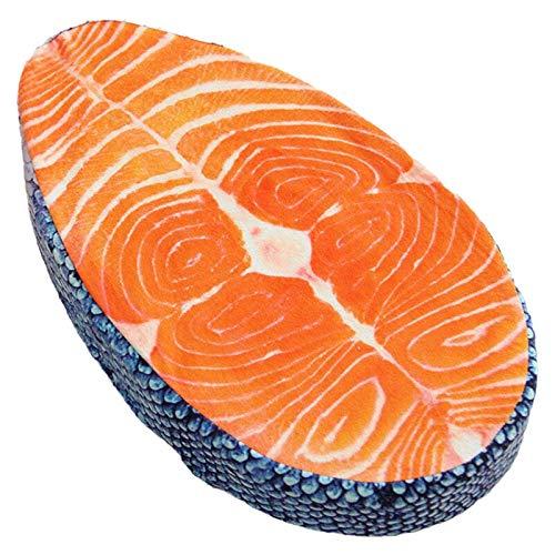 shenlanyu Juguete De Peluche Almohada De Juguete De Felpa Cojín De Pescado Lavable Simulación Divertida Delicioso Salmón Pescado Cojín De Almohada De Sushi Diseño Creativo Decoración del Hogar