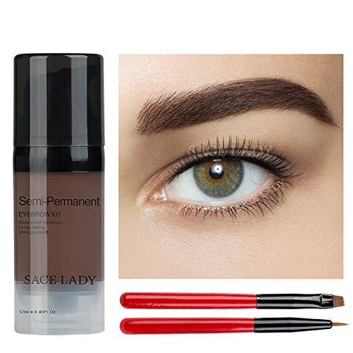 Eyebrow Gel Kit, Tinted Long Lasting Cruelty Free Eyebrow Gel for Daily Natural Waterproof Eyebrow Makeup, Flake-proof, Smudge-proof, Dark Brown