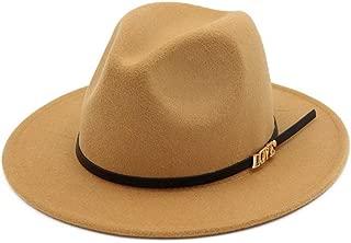 XinLin Du Women Men Wool Fedora Hat Wide Brim Hat Gentleman Hat Elegant Lady Winter Autumn Fascinator Hat
