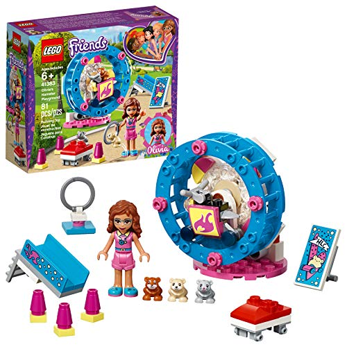 LEGO Friends Olivia's Hamster Playground 41383 Building Kit (81 Pieces)