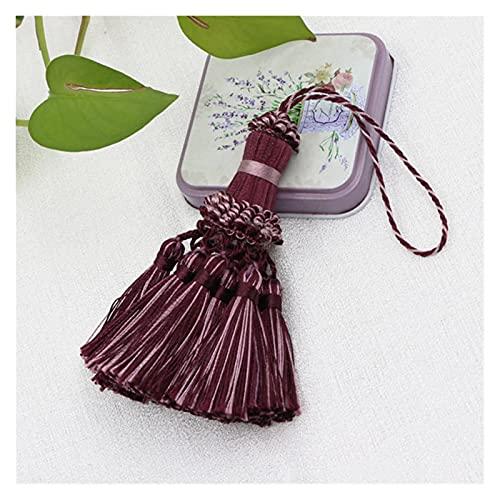 WXJ 1 UNID PEQUEÑA PEQUEÑA PEQUEÑA Craft Craft BARRILLOS, COLORINA Colgante Pendiente Bricolaje Accesorios de la habitación Key Tassel Boda Joyería Accesorios (Color : Purple, Size : 26cm)