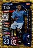 2019-20 Topps UEFA Champions League Match Attax Hat Trick Heroes #HH 2 Gabriel Jesus MANCHESTER CITY FC Official Futbol Soccer Trading Card Game Playing Card