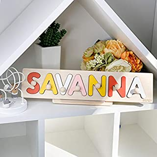 Nursery Decor, Name Puzzle, Birthday Gift, Sensory Toys, Customized Puzzle, Toddler Busy Board, Puzzle for Kids, Wooden Gift