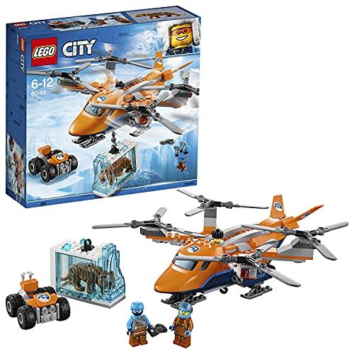 LEGO City - Ártico: Transporte Aéreo, Juguete de Construcción con Helicóptero de Juguete, ATV, Figura de Tigre, Aventuras Invernales de Juguete (60193)