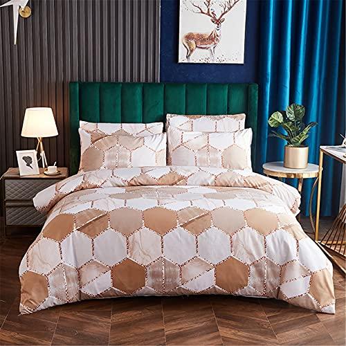 Ropa De Cama Textiles para El Hogar Color Degradado Patrón De Mármol Patrón Funda Nórdica Funda De Almohada Suave Cómoda Y Fácil De Limpiar 228x228cm