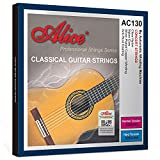 Alice Nylon Classical Guitar Strings .0285-.044 Hard Tension with Sliver Plated Copper Winding Anti-Rust Coating, 2 Sets