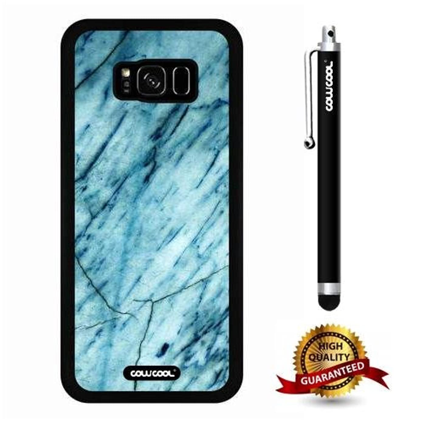 Galaxy S8 Plus Case, Marble Pattern Case, Cowcool Ultra Thin Soft Silicone Case for Samsung Galaxy S8 Plus - Slash Grid Marble Texture