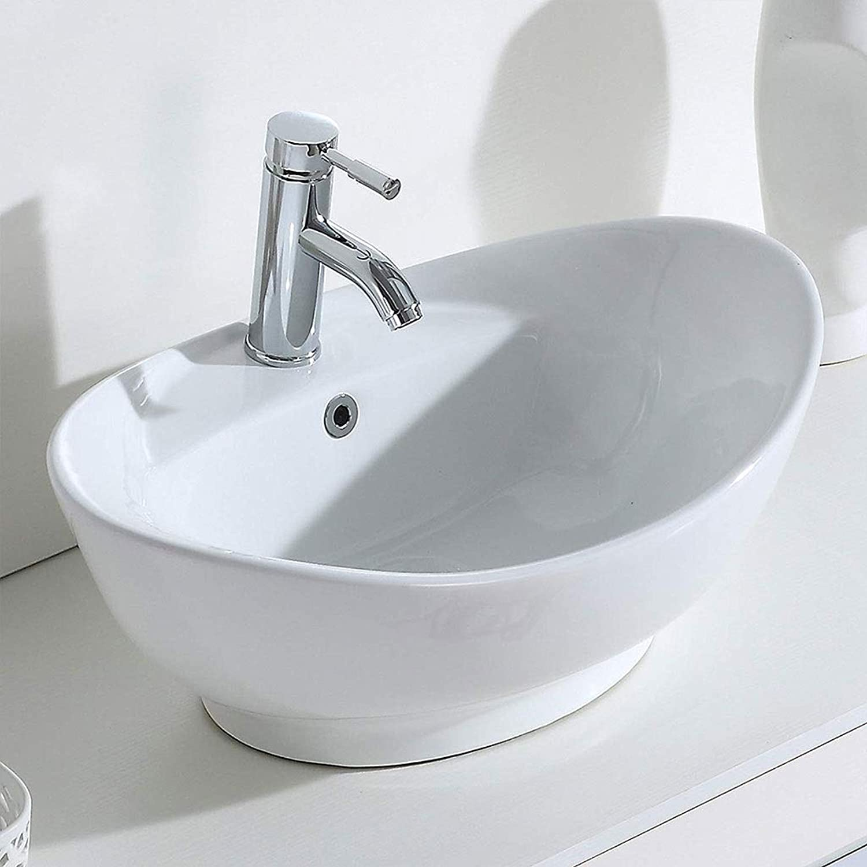 Waschbecken Waschbecken Keramik Waschbecken Aufsatz montiert for Toilette Waschtisch, 59X39X21 (CM) Waschbecken 0705