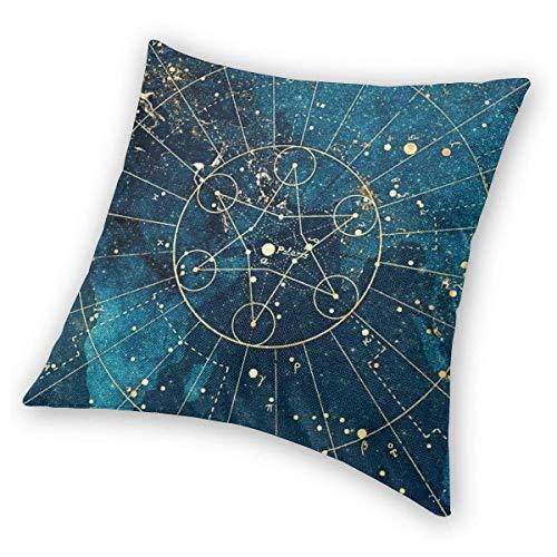 DRXX Square Throw Pillow Covers Universe Nebula Starry Pillowcase Sofa Christmas Decorative Cushion Covers 45X45 cm