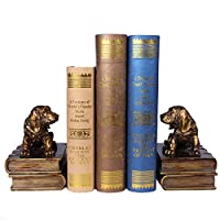GYW-YW 置物 ジュエリーアートクラフト子犬本棚研究シミュレーション装飾ブックエンドクリエイティブな本棚ホーム 工芸品