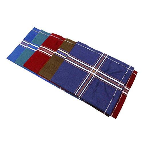 Indianbeautifulart Lot 6 Pcs coton unisexe mouchoir hommes Hanky ??Accessoires