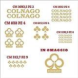 Colnago Aufkleber-Set, einzeln geschnitten, kompatibel mit Aufkleber-Set