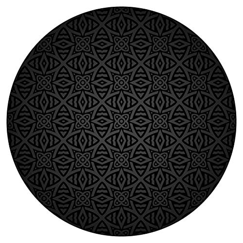 SoSung Dark Grey Round Area Rug,Medieval Folkloric Ornament Celtic Pattern Vintage Style Floral Circles Decorative,for Living Room Bedroom Dining Room,Round 6'x 6',Black Grey