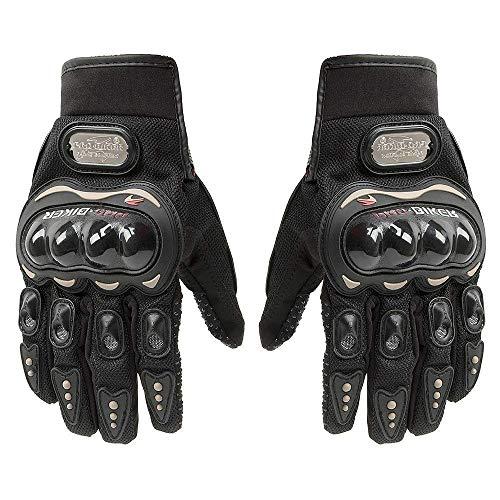 Pro-Biker - Guantes de piel con pantalla táctil para motocicleta, para bicicleta, moto, deportes de competición