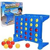 Connect 4 Shots Juego de Mesa Plegable Bouncing Linking Shots Bounce Board Game Link 4 Ball Game Regalo para niños