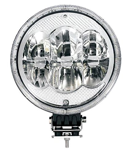 LED-Fernscheinwerfer mit LED Ring als Positionslicht - 228,6mm - Aluminium Schwarz - 12/24V - LKW - Transporter