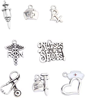 BNQL 16pcs Medical Nurse Charms Collection for Jewelry Making