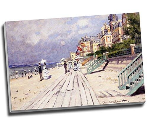 """Claude Monet Kunstdruck auf Leinwand, Motiv """"Strand bei Trouville"""", A1, 76,2 x 50,8 cm"""