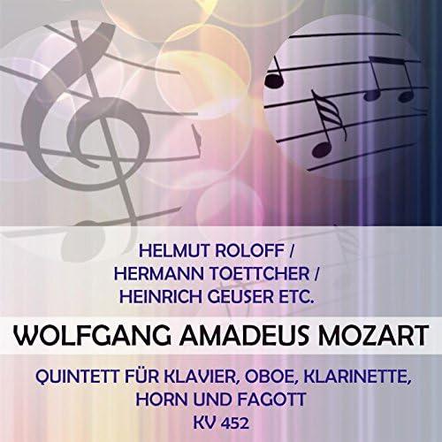 Helmut Roloff, Hermann  Toettcher, Heinrich Geuser, Kurt Blank & Willi Fugmann