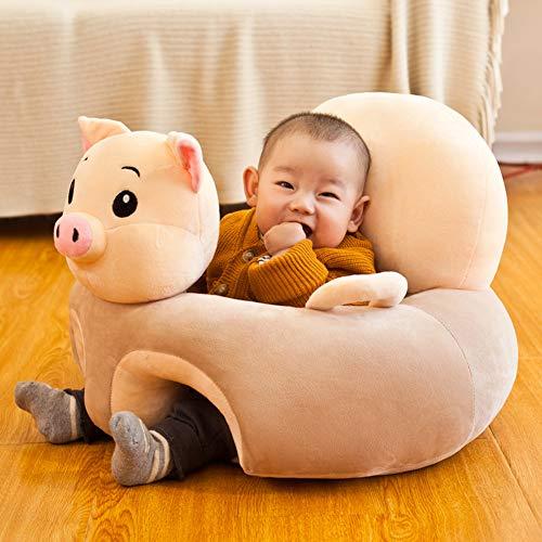 SXFYZCY Cartoon-Tierbaby-Sofa Unterstützung Sitz Lernen Sitzen weicher Stuhl Baby Sitz Fütterstuhl,C,50cm