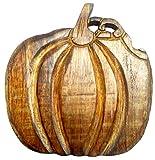 Purpledip Wooden Trivet 'Halloween Pumpkin': Coaster Hot Pad Mat for Dining Table, Kitchen (11989)