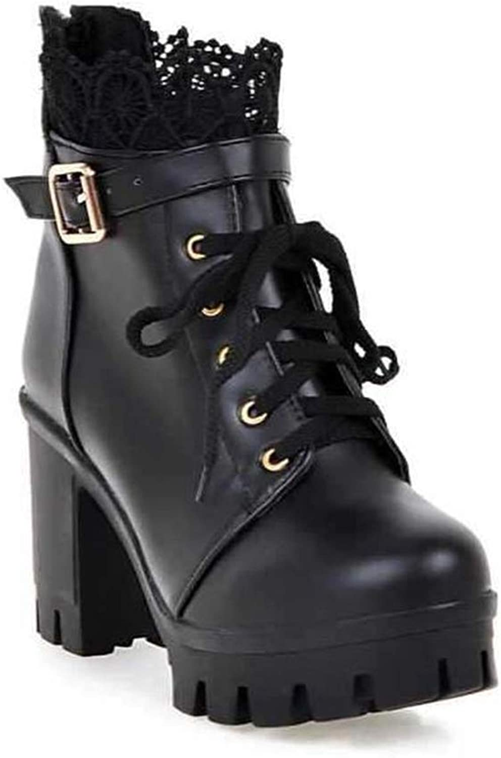 Quality.A High-Heeled Martin Boots Thick Ankle Boots Student Boots