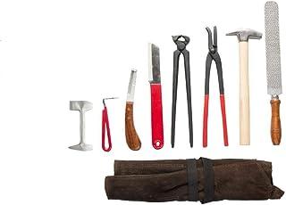 8 Piece Horse Farrier Hoof Grooming Tool Kit w/Carry Bag