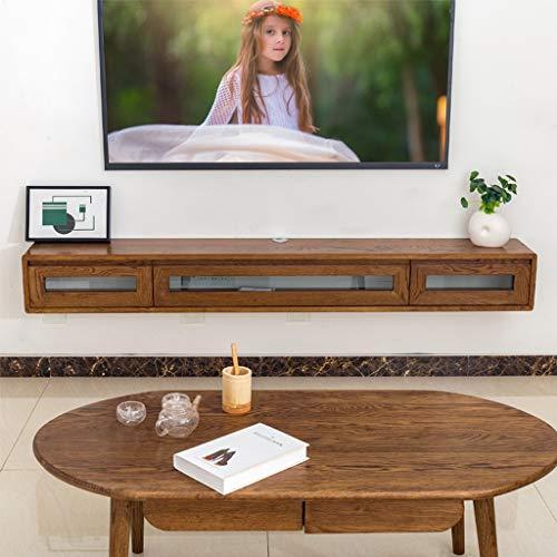 Wandgemonteerde TV kast Wandplank Zwevende plank Set top box router DVD speler CD's kabel box knickknacks Kleine elektronische producten opslag planken TV console TV stand, 1.2m, Walnoot Kleur