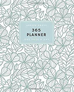 365 Planner: Daily Diary One Page a Day 365 Planner Jan 1 – Dec 31 2019 Soft Green with Leaves