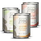 MjAMjAM - Comida húmeda premium para gatos - Paquete de mezcla - Pollo, carne de res, corazones, paquete de 6 (6 x 400 g), sin grano con carne extra