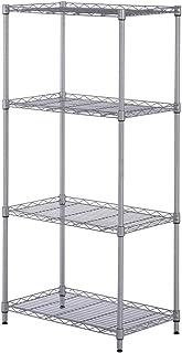 SINGAYE 4 Tier Adjustable Wire Shelving Metal Storage Rack for Laundry Bathroom Kitchen 13.4