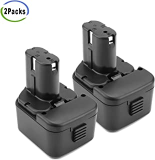 Creabest 2 Pack 12V 3500mAh Ni-MH Replacement Battery Compatible with Hitachi EB1214S EB1212S EB1214L EB1220BL EB1220HS EB1222HL EB1226HL EB1230HL BCC1212 EB1220RS EB1222HL EB1226HL 324360 EB1230HL