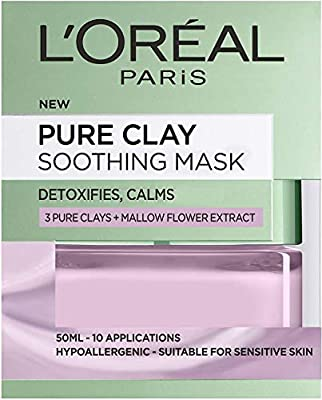 L'Oreal Paris Pure Clay Soothing & Detox Face Mask for Sensitive Skin 50 ml from Loreal