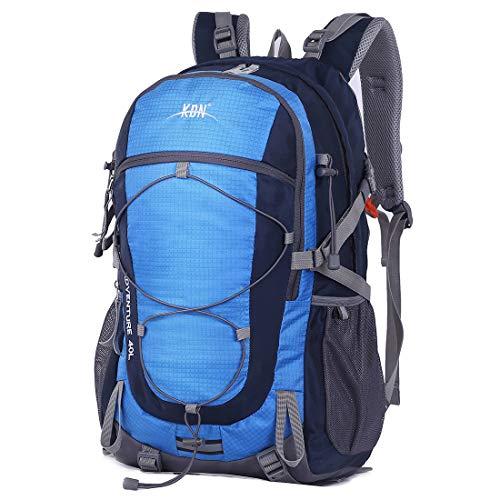 5L BLUE CHARM Mochila de Camping de Gran Capacidad para Hombres y Mujeres de Viajes de Senderismo al Aire Libre Hombres y Mujeres 60L