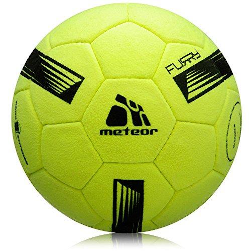 meteor Kinder Fußball Ball kleine Sportball Kleinkinder Freizeitball für drinnen und draußen Ball für Mädchen und Jungen in Allen Größen #1#3#4 und #5 (Furry #5, Furry Yellow)