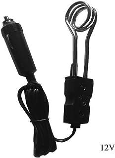 AdaAda Portable 12V Car Immersion Heater Auto Electric Tea Coffee Water Heater Black