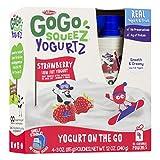 PACK OF 12 - GoGo Squeez Yogurtz Low Fat Strawberry Yogurt, 4 - 3 oz pouches