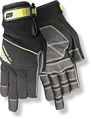Red Steer Ironskin 167 Professional Grade Carpenter Style High Dexterity Glove, Black, Large [PRICE is per PAIR]