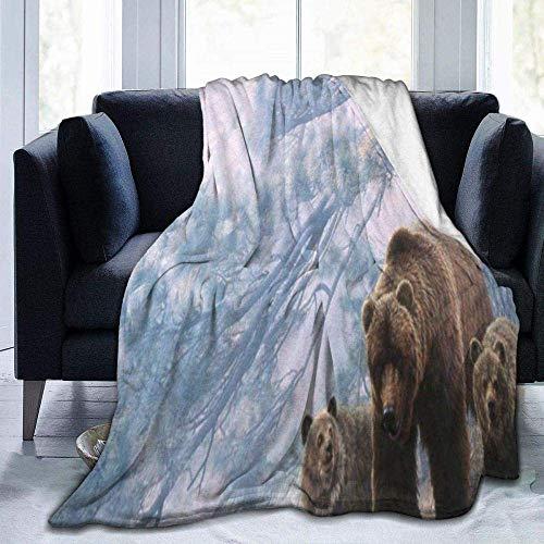Mantas para sofá cama, azul, rojo, patrón de pintura abstracta, cálida y acogedora manta hipoalergénica para cama, sillón, otoño, invierno, primavera, sala de estar, adecuada para adultos, niños