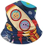 N/A Calentador de cuello de microfibra Espacio exterior Galaxy Panda Cuello de tubo Gaiter Calentador de oído Diadema Bufanda Mascarilla Pasamontañas Negro