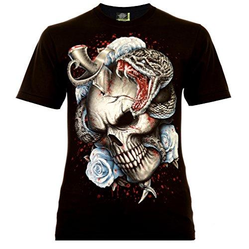 Ink Addict Herren T-Shirt Schwarz Gr. 2XL Glow in The Dark