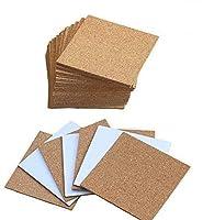 amajoy - sottobicchieri quadrati, autoadesivi, in sughero, 10 x 10 cm, ideali anche come sottopentola e per progetti fai-da-te, confezione da 25