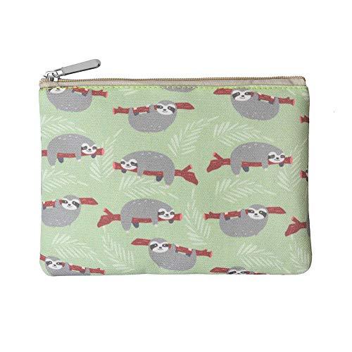 Rantanto Canvas Pencil Holder Case Pen Stationary Pouch Cosmetic Makeup Bag (CPH004 Sloth)