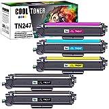 Cool Toner Cartucho de tóner compatible con para usar en lugar de Brother TN243CMYK TN247 Brother DCP-L3550CDW HL-L3210CW HL-L3230CDW HL-L3270CDW MFC-L3750CDW (Negro,Cian,Amarillo,Magenta,pack de 5)