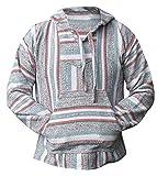 Del Mex Mexican Baja Hoodie Sweatshirt Pullover Jerga Surf Poncho Drug Rug (X-large, Calexico)