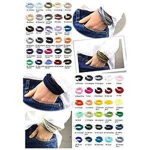 5er Paket Armband Wickelarmband Stoff handgefertigt in Wunschfarben unisex Freundschaftsarmbänder Freundschaftsbänder…
