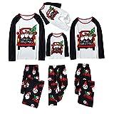 Alueeu Pijamas Navidad para Familias Top+Pantalones Set Ropa de Dormir Chándal Homewear Pijamas Navidenos Amigas riou