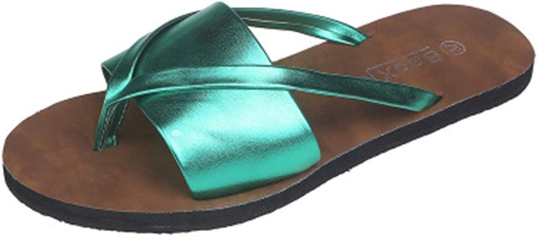 T-JULY Summer Flip Flops Wmen Slippers Soft Slides Thong Female Sandals with Non-Slip Rubber Sole